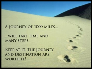 Keep going on that journey